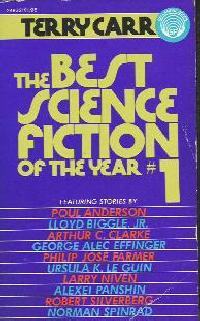 Best Science Fiction of the Year 1. ed Terry Carr. 1972