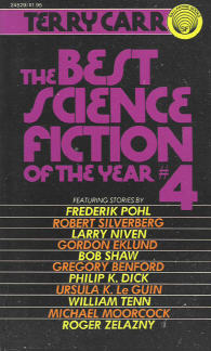 Best Science Fiction of the Year 4. ed Terry Carr. Ballantine Books. 1975