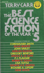 Best Science Fiction of the Year 5. ed Terry Carr. 1976