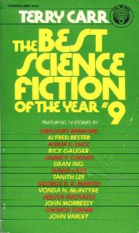 Best Science Fiction of the Year 9. ed Terry Carr. 1980