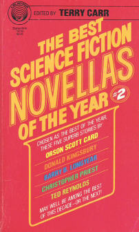 Best Science Fiction Novellas of the Year 2. ed Terry Carr. 1980
