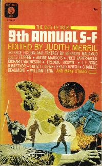 The Ninth Annual of the Year's Best SF. Judith Merril. Simon & Schuster 1964